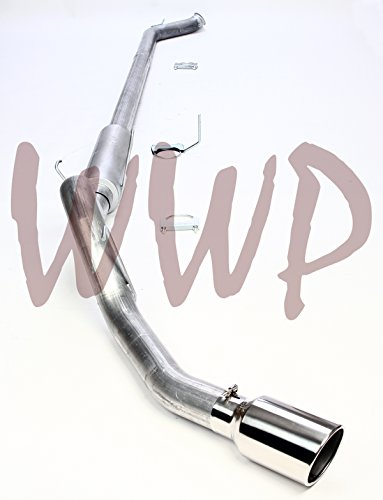 """Performance 4"""" Turbo Back Race Exhaust With Muffler & 6"""" Polished Tip Straight Pipe System Downpipe Down Pipe Included 03-04 Dodge Ram 2500 3500 Cummins 5.9L Diesel Pickup Truck"""