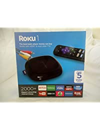 1 Streaming Player (Negro) (Roku Roku 2710rw) Edición Especial de vudu con 5 vudu crédito