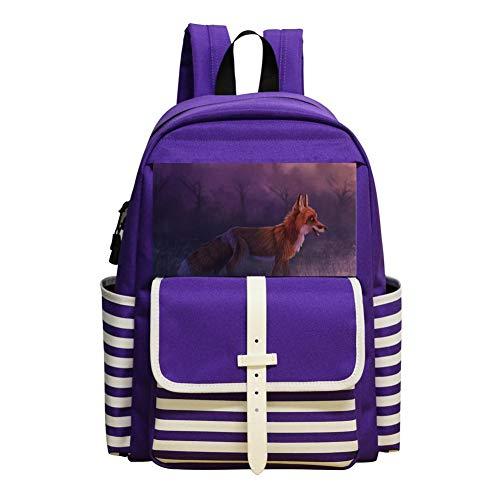 Fox Animals Schoolbag Large Primary School Leisure Bag Children's Backpack ()
