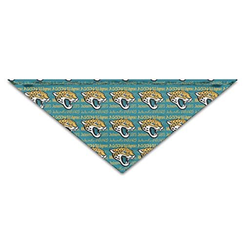 Marrytiny Custom Dog Triangle Pet Scarf Jacksonville Jaguars Football Team Bandana Collars 100% Polyester Pet Dog Cat Bibs Triangle Head Scarfs Accessories