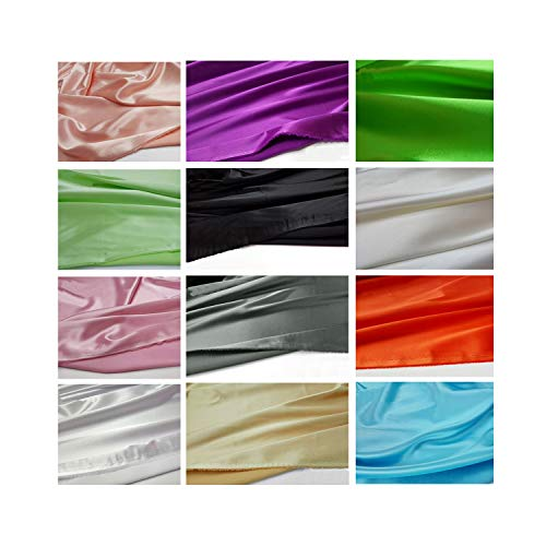 34 Colors Quality Stretch Satin Material Super Soft Imitate Silk Satin Charmeuse Fabric for Dress Meter,2 Green
