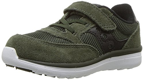 Price comparison product image Saucony Baby Jazz Lite Sneaker (Toddler/Little Kid/Big Kid), Olive, 4 W US Toddler