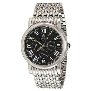 Starking Men's Black Dial Stainless Steel Band Watch - BM0869SS12