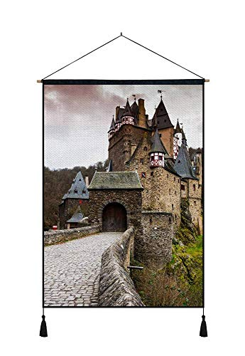 DZ.HAIKA Castle Gate Forest - Natural Scenery Art Print Cotton Linen Home Wall Decor Hanging Posters(18x26inch)