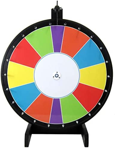 36in Carnival-Style Dry Erase Spinning Prize Wheel with Special Sections