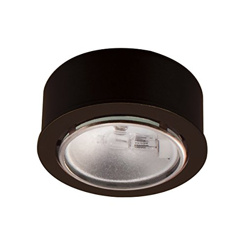 WAC Lighting HR86DB Recessed Button Light, Dark Bronze (Low Voltage Black Trim)