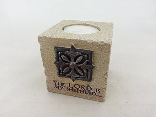 The Faith Collection - Tea Light Holder - The Lord Is My Shepherd by Faith Collection