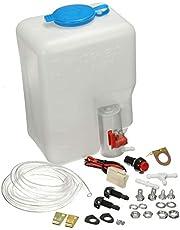 KKmoon Universal Washer Bottle Tank Kit Pump 12V 1.8L Windshield Wiper System Reservoir
