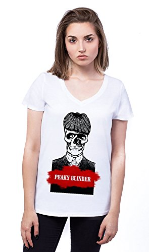 Peaky Blinders Skeleton Damen V-neck T-shirt