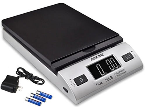 5 Lb Package - ACCUTECK All-in-1 Series W-8250-50bs A-Pt 50 Digital with Ac Adapter, Silver