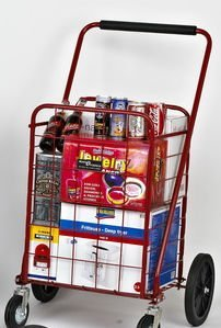 9c0c3ec3360a Narita Trading Sunny Super Shopping Cart, Red