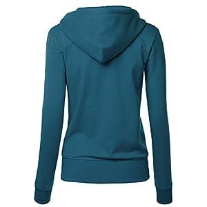 MBJ WSK954 Womens Active Fleece Zip Up Hoodie Sweater Jacket XXXL TEAL