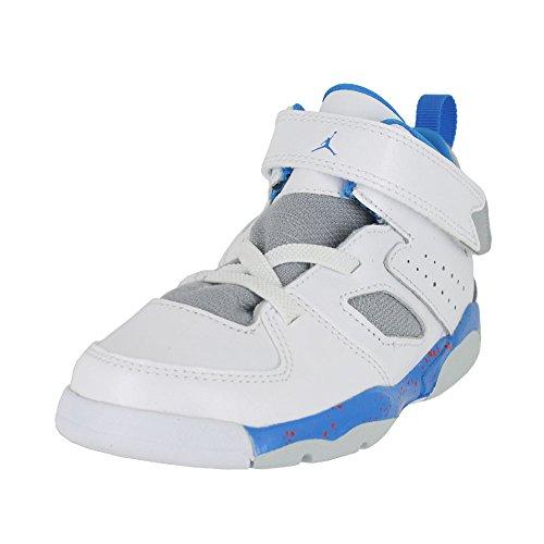 Jordan Toddler Flight Club 91 (TD) White Blue Wolf Grey Orange Size 5 ()