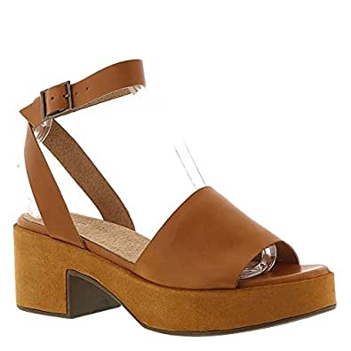 Seychelles Womens Calming Influence Sandal, Tan Leather/Suede, Size 6