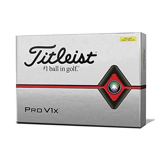 Titleist Pro V1x Golf Balls, Yellow, Standard Play Numbers (1-4), One Dozen