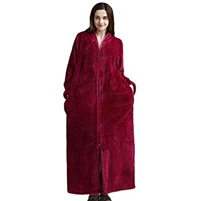 Zhahender Winter Women Girls Coral Fleece Bathrobe Flannel Autumn Winter Coral Velvet Couple Pajamas Robe (Color : Hot Pink, Size : M) Leg Warmers