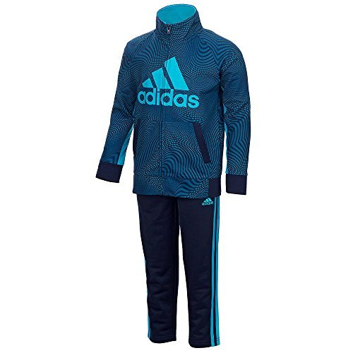 adidas Boys Tricot Jacket and Pant Set (3T, Cosmic (Adidas Tricot Logo Jacket)