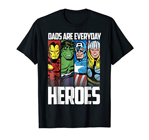 Marvel Avengers Father's Day Everyday Heroes Graphic T-Shirt]()
