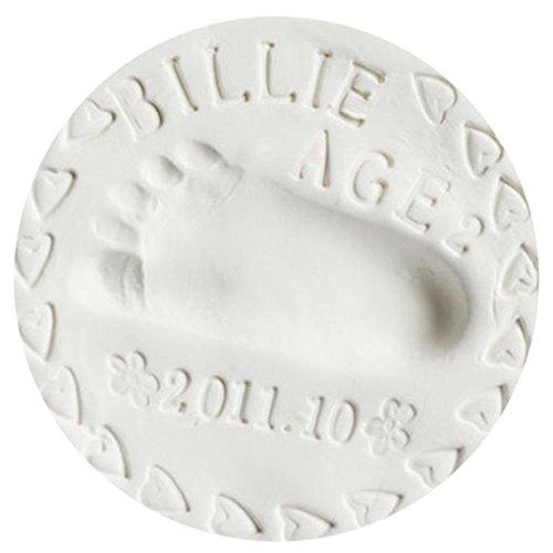 QHGstore Baby Handabdruck Abdruck Lehm Handfuß Tinten Auflage DIY Fertigkeit Geschenke Weiß Weiß