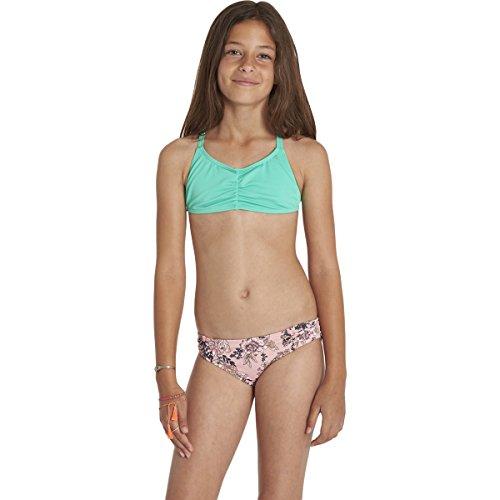 Billabong Big Girls' Beach Beauty Tali Crossback Two Piece Swimsuit, Dusty Rose, 12