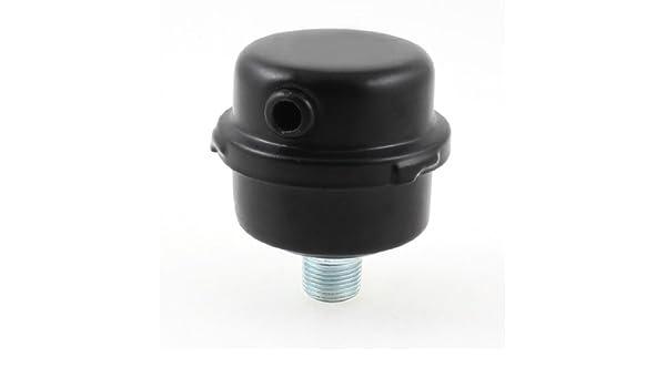eDealMax Negro Compresor de Aire de Admisión Puerto Metal Silenciador 0, 63 Diámetro de la rosca: Amazon.com: Industrial & Scientific