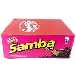 Amazon.com: Samba MAXI Fresa, Galleta Fresa Cubierta de