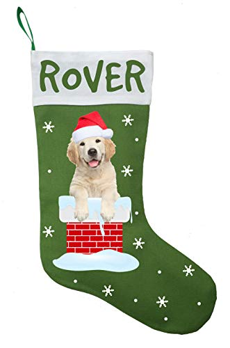 Christmas Stockings Retriever Golden (Golden Retriever Christmas Stocking, Golden Retriever Christmas Gift)