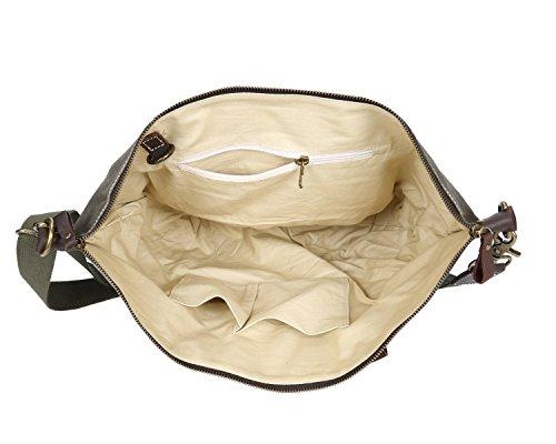 Ying de de mensajero Brass Bags bolsa Lona con impermeable caballo Bolso loco aceite de de Unisex de hombro de de los Bolsa hombres mano cera 0ffrc4
