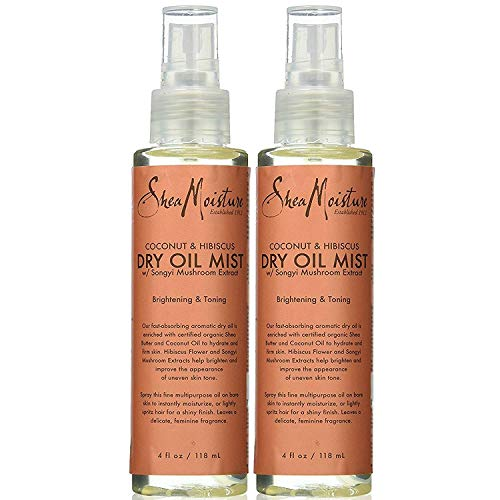 (Shea Moisture Coconut & Hibiscus Dry Oil Mist, 4 Ounce, Pack of 2)