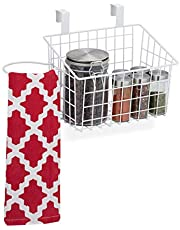 Relaydays hangmand metaal, draadmand voor kastdeur, keuken & badkamer, mandje HxBxD 22,5x38x20 cm, in div. kleuren