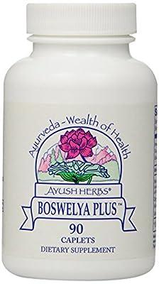 Ayush Herbs Boswelya Plus Herbal Supplement, 90 Count