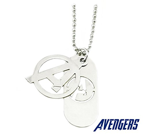 Superheroes Brand Avengers Marvel Comics Hero Logo Necklace