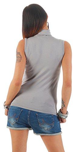 Gridio Donna 010 Smanicato Maglietta Mellice Dolcevita Shirt da ARO0q