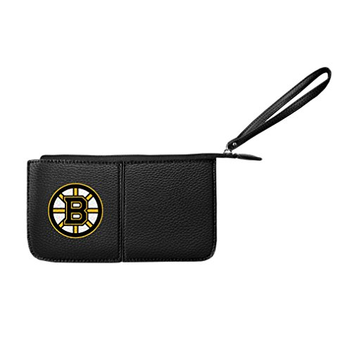NHL Boston Bruins Pebble Wristlet (Bruins Nhl Card Boston)