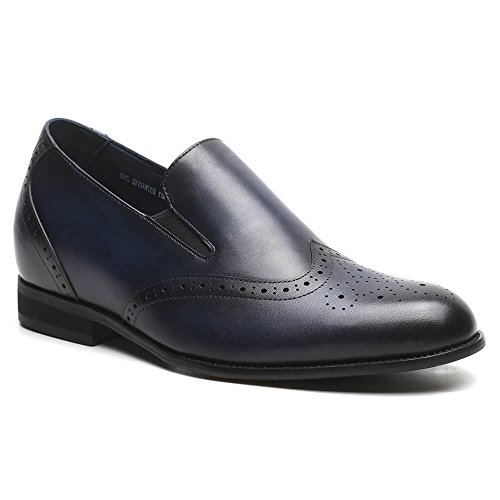 Loafers H81D37K031D Height Men Taller Insole 76 Shoes inches Shoes 2 Oxford Men CHAMARIPA Taller 32D Blue Increasing Elevator q1x6ndZw