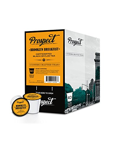 Prospect Tea Single-Cup Tea for Keurig K-Cup Brewers, Brooklynbreakfast, 40 count (Breakfast Cup Island)