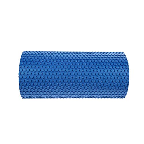 Jshen Foam Shaft Yoga Foam Roller- 30cm Gym Exercise Yoga Block Fitness EVA Floating Trigger Point for Exercise Physical Massage Therapy-3 Colors (Color : Blue)
