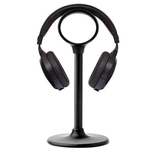Flare Up Headphone Stand Universal TPU Holder Showing Display Hanger Over Ear Headphones, Somic, RIG, Void PRO, Playstation Gaming Headset(Black)