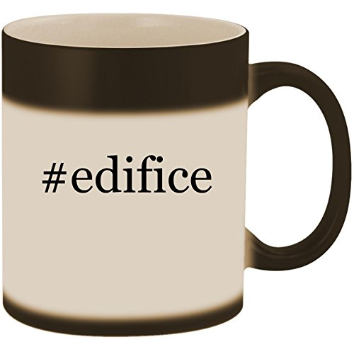 #edifice - 11oz Ceramic Color Changing Heat Sensitive Coffee Mug Cup, Matte Black