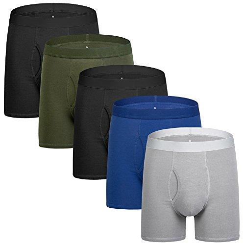 Boxershorts Herren Unterwäsche Baumwolle Unterhosen Männer Boxershorts 5er Pack S/M/L/XL/XXL