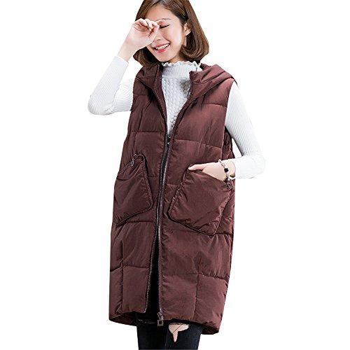 修正製造非常に怒っています秋冬 中綿ロングベスト レディース  厚手 大きいポケット フード付き ゆったり 着痩せベスト 冬物 綿入れ トップス