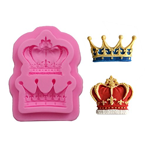 Efivs Arts Crowns Form Princess Queen 3D Silicone Mold Fondant Mold Cupcake Cake Decoration Tool 3.3