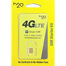 H2O Wireless 3-in-1 Sim Card Kit (Nano, Micro, and Standard size Compatible) Triple sim by Manufacturer