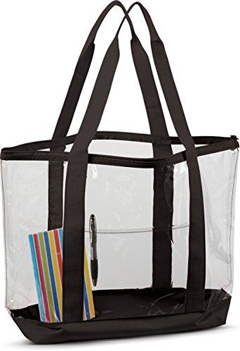 Liberty BLACK Large Clear One 7009 Bags Size Black Tote OdRqWEpEw