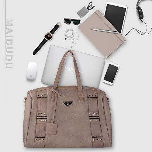 MAIDUDU Casual Laptop Shoulder Bag for Women, Stylish Business Laptop Travel Handbag and Laptop Tote Shoulder Bag