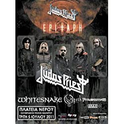 Judas Priest- Epitaph Tour, Whitesnake, Opeth (Flyer,15 X 19,5 Cm.,5-7-2011)