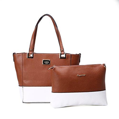 Leather Handbag Women Shoulder Tote Bag Business Shopper ...