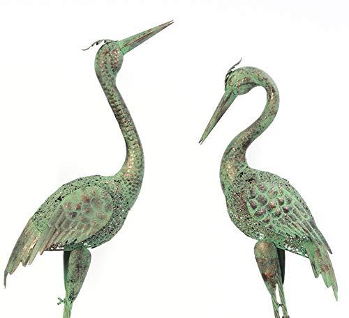 Wonders Beyond Outdoor/Indoor Accent Metal Green Copper Crane 40