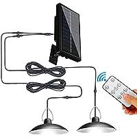 CNmuca Lâmpada LED solar pendente para exterior Lâmpada de energia solar interna com linha de lâmpada Iluminação de…