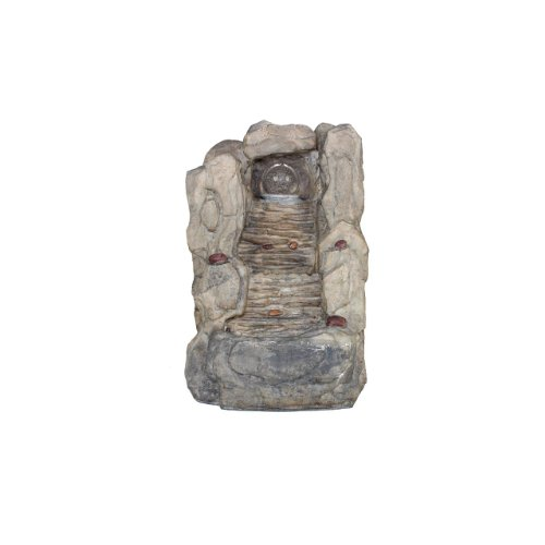 Essential Décor Entrada Collection Cascading Stone Walkway Water Fountain, 14.17-Inch - Stone Freestanding Fountain
